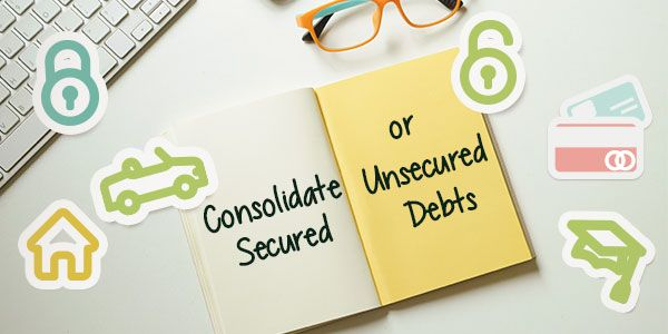 Can you possibly consolidate both secured and unsecured debts?