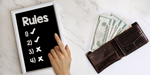 Money rules: What you can and can't break, and what to follow