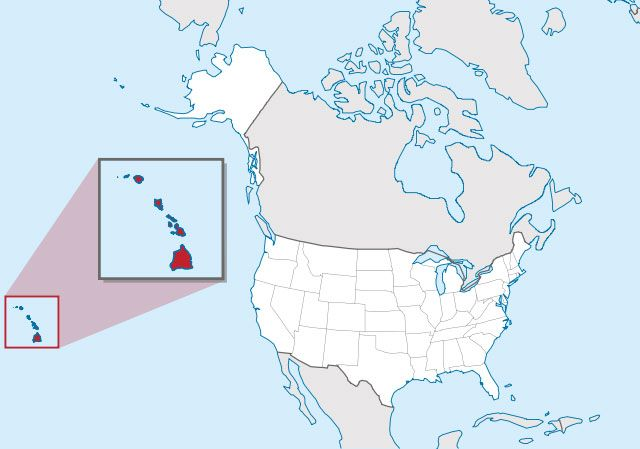 state of Hawaii map, USA