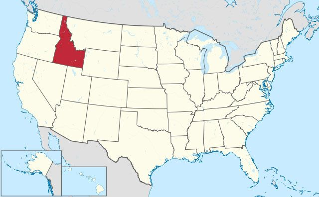 state of Idaho map, USA
