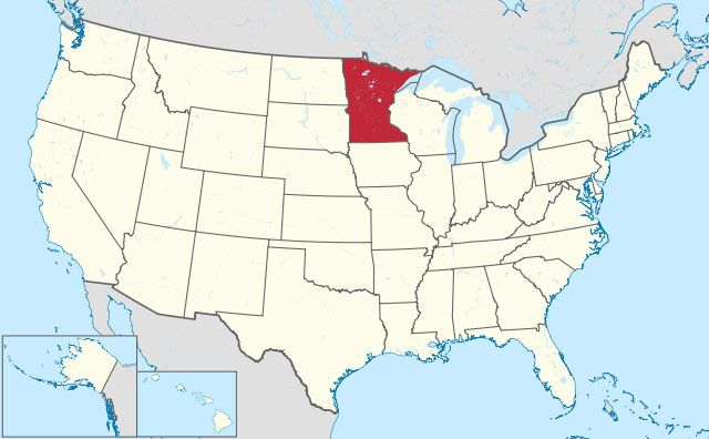 map of Minnesota state in USA