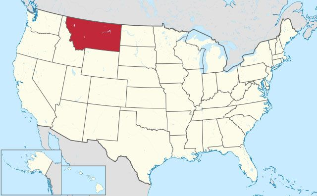 state of Montana map, USA